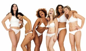 Women model for Dove's Campaign for Real Beauty