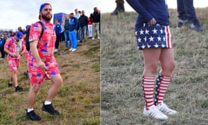 Matching outfits have been popular amongst the USA fans.