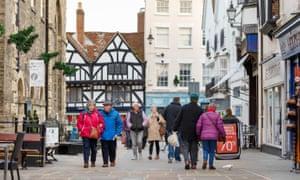 People on a street in Salisbury