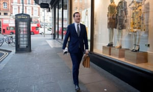 George Osborne arrives at the London Evening Standard offices in Kensington, London.