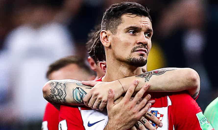 Dejan Lovren is consoled only 50 days after Liverpool's European Cup final defeat.
