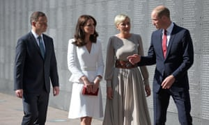 The Duke and Duchess of Cambridge, with President Andrzej Duda and his wife, Agata, visit the Warsaw Rising Museum.