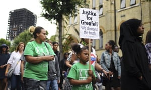 A silent march marking the two-month anniversary of the Grenfell Tower fire