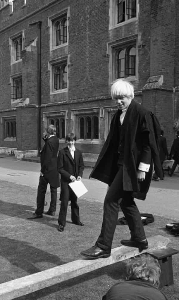 Boris Johnson at Eton in 1979. In 2020, two-thirds of his full Cabinet were privately educated.