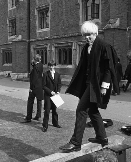 Boris Johnson in Eton in 1979