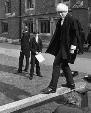 Boris Johnson at Eton School in 1979.