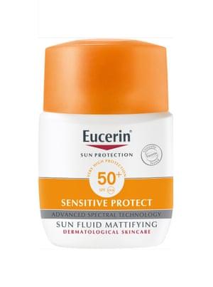 Eucerin Sensitive Protect Sun Fluid Mattifying SPF50+, £16, escentual.com