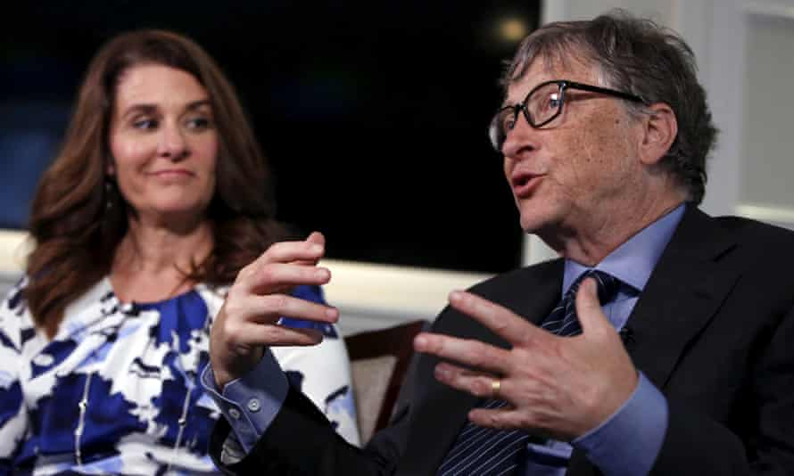 Melinda Gates with her husband, Bill, the co-founder of Microsoft.