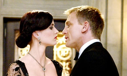 Eva Green with Daniel Craig in Casino Royale.