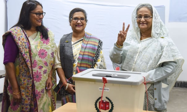 Bangladesh PM Hasina wins thumping victory in elections