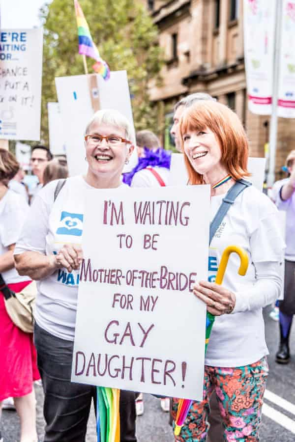 Evelyn Gray: 'I'll be marching every year until they make [same-sex marriage] it legal, and one more time to celebrate when they do.'