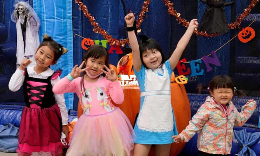 Japanese children celebrate Halloween in Tokyo