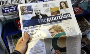 The first Guardian in Berliner format in 2005.