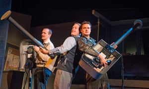 Greg Tannahill (Cooper), Steven Rostance and Henry Shields (Mitch Ruscitti) in The Comedy About A Bank Robbery.