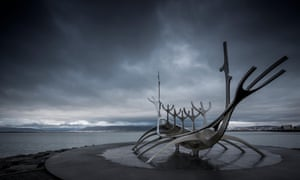 Solfar Viking Sculpture, Reykjavik, Iceland