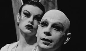 Lindsay Kemp, right, with David Haughton in Flowers.