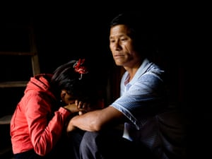 Thiên, 15, with her father: she escaped from five months in captivity in central China, aged 13.