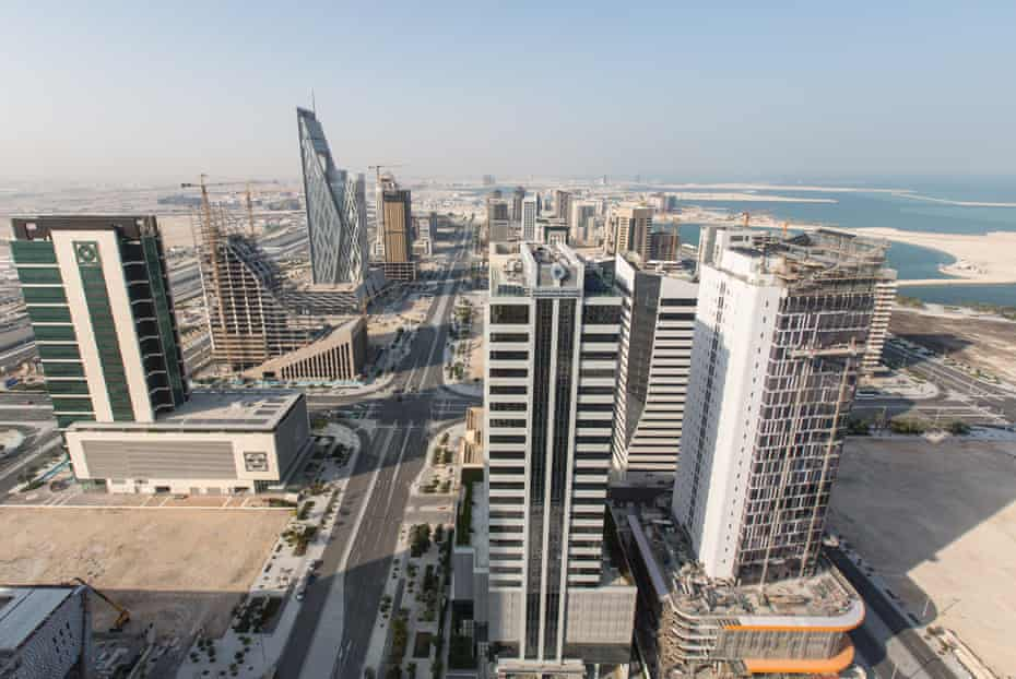 Lusail, a new coastal city born in part from the desire to diversify the Qatari economy and distance it from oil dependence.