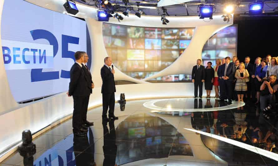 President Putin visits VGTRK News Service on its 25th birthday in May.