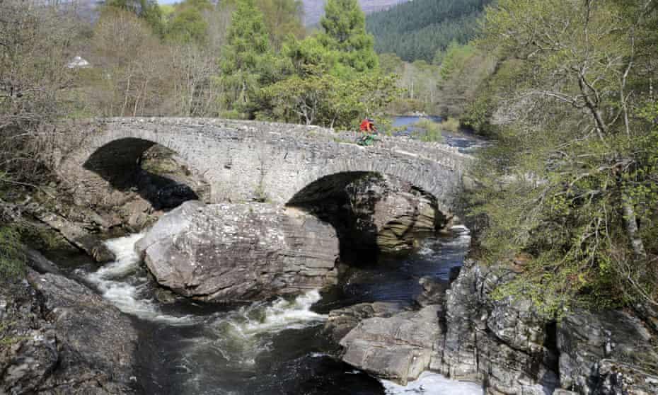 Crossing the bridge at Invermoriston