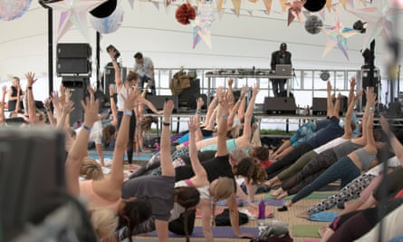 Yoga at the Soul Circus festival