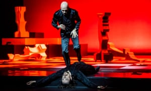 Rollicking … Johan Kobborg (standing) and Sergei Polunin dance in Rasputin at the London Palladium.