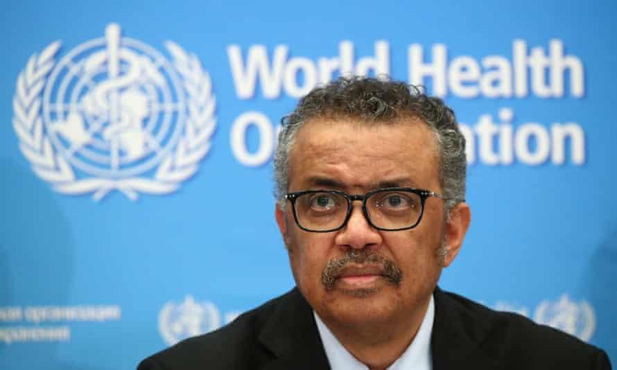 Dr Tedros Adhanom Ghebreyesus, head of the WHO