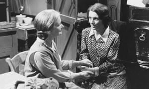Jean Heywood, left, as Bella and Susan Jameson as Jessie in the BBC television series When the Boat Comes In, 1977.