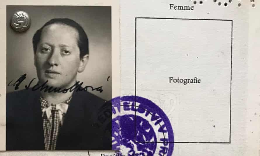 An image of Marie Schmolka taken from identity documents