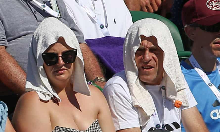 Spectators on day one of Wimbledon.