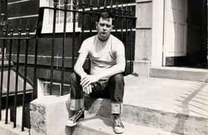 Joe Orton,photographed outside his Islington home at the height of his fame, 1966