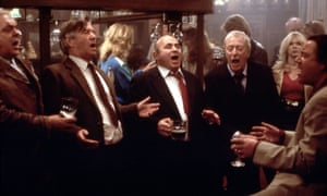 David Hemmings, Tom Courtenay, Bob Hoskins, Michael Caine and Ray Winstone in the film Last Orders