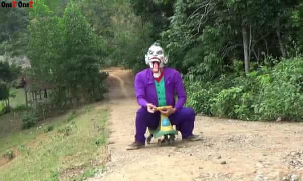 A scene from a parody video.