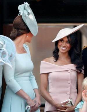 The Duchesses of Cambridge and Sussex during Trooping the Colour.