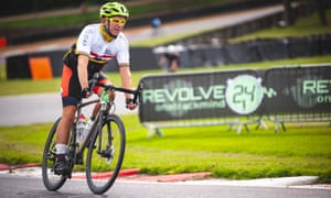 A hard day's night: Martin Love takes part in the Revolve24 event at Brands Hatch.