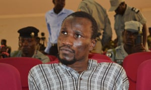 Mahamat Moustapha, pictured here at his trial, has been described as a leader of Boko Haram and was among those executed.