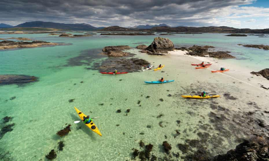 Kayaking in the Sound of Arisaig with Arisaig Sea Kayak Centre