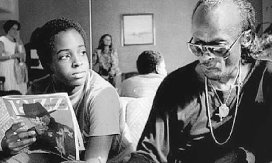 Miles Davis with son Erin.