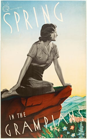 Spring in the Grampians – travel poster (1930s)