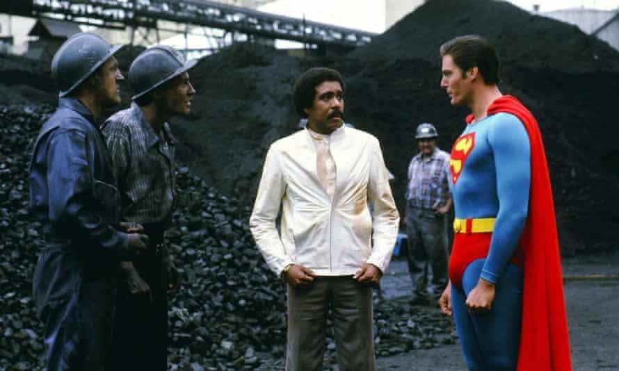 Richard Pryor and Christopher Reeve in Superman III.