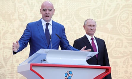 Gianni Infantino was in Russia last weekend for the start of the World Cup trophy tour and met the Russian president, Vladimir Putin.