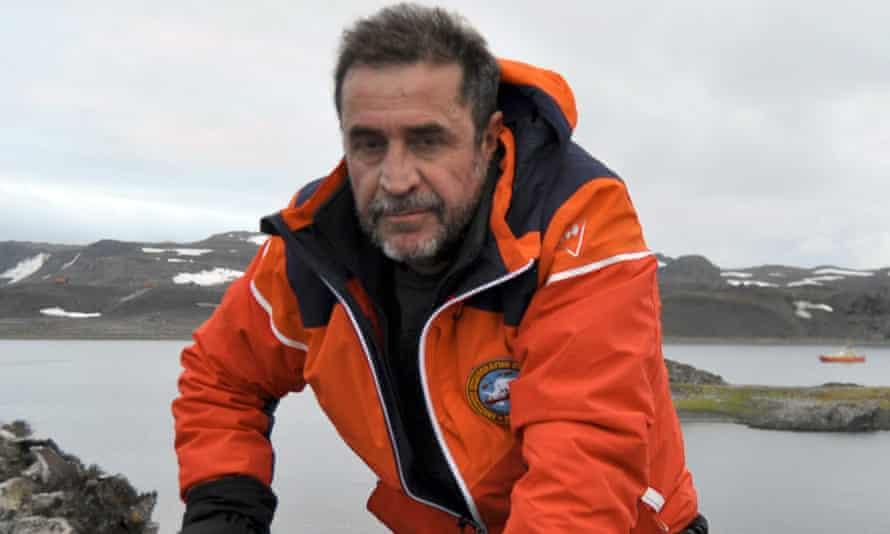 Javier Montojo Salazar pictured in Antarctica