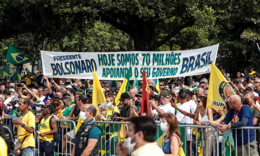 Supporters of President Jair Bolsonaro