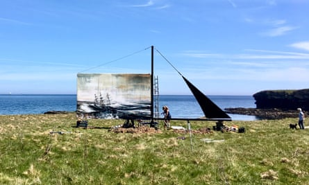 To All At Sea installation, Anglesey. By artist Anthony Garratt