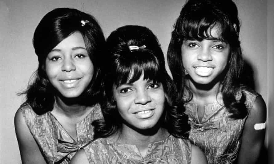 The Dixie Cups in 1964: Joan Marie Johnson, left, with her cousins Rosa Lee Hawkins, centre, and Barbara Ann Hawkins.