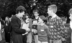Joan Kirner in 1990 during children's week in Melbourne.