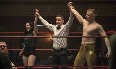 Florence Pugh and Jack Lowden in Fighting With My Family.