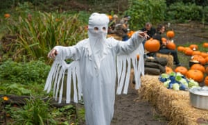 Getting into the spirit: plot one's Halloween party, with ghosts and pumpkins.