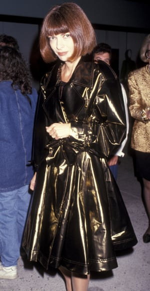 Wintour in 1991 at the opening of Galleries Lafayette, Trump Towers, New York