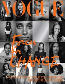 The cover of British Vogue's September issue, guest edited by Meghan Markle